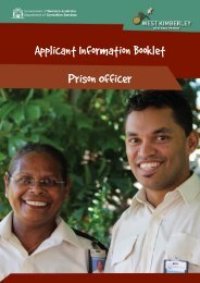 Applicant Information Booklet Prison Officer - Department of ...