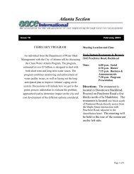 President's Message - AACE International - Atlanta Section