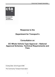 EC Whole vehicle type approval - Community Transport Association