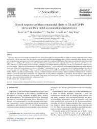 Growth responses of three ornamental plants to Cd and Cd–Pb ...
