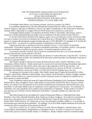 Reunión de Negocios - Oklahoma Biological Survey - University of ...