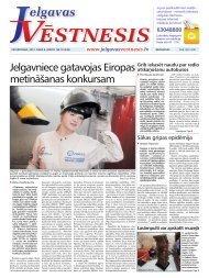 2012.gada 8.marts Nr.10(246) - Jelgavas Vēstnesis