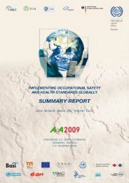 Summery Report - ILO Safety Conference 2009