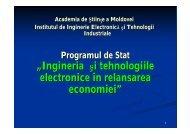 """""""Ingineria şi tehnologiile electronice în relansarea economiei"""""""