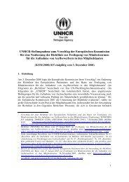 Analyse zum Vorschlag der Europäischen Kommission für ... - UNHCR