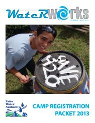Summer Camp Registration Packet - Toho Water Authority