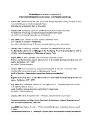 Papers & guest lectures presented at international ... - Ilisimatusarfik