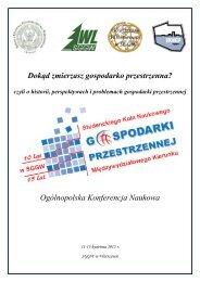 Program Konferencji - Studenckie Koło Naukowe Gospodarki ...