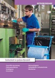 Arbeitsschutzkatalog Ausgabe 13 Kapitel Betriebsbedarf (PDF, ca. 2 ...