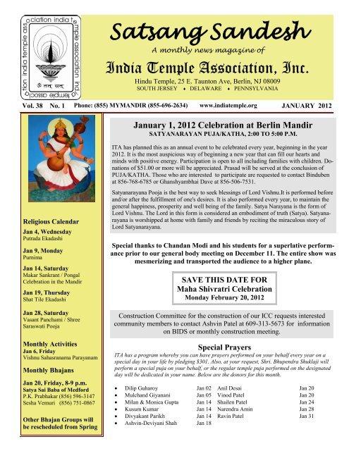 January 1, 2012 Celebration at Berlin Mandir - India Temple