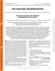 ISPD GUIDELINES/RECOMMENDATIONS - NVMM