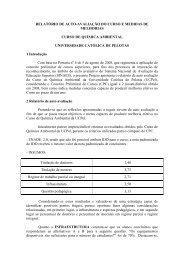 Auto Avaliação do Curso Química Ambiental - Universidade ...