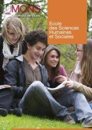 Ecole des Sciences Humaines et Sociales - Université de Mons