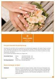 Ihre ganz besondere Hochzeitsplanung Unsere Leistungen im Detail