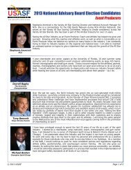 2013 National Advisory Board Election Candidates