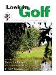 Suur-HelSingin Golf Ry:n JäSenleHti Nro 3/2011