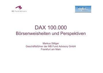 Max Value Fonds und Stellungnahme zur Marktlage - INFOS GmbH