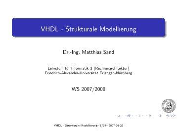 VHDL - Strukturale Modellierung - Friedrich-Alexander-Universität ...