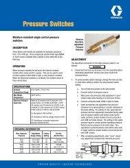 Pressure Switches - Graco Inc.