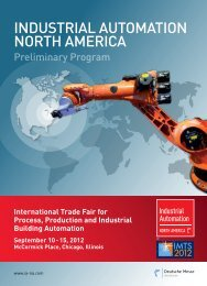 InduSTrIAL AuToMATIon norTH AMerICA 2012 - Prototype Today