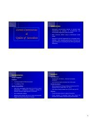 Current Controversies & Update of Sarcoidosis