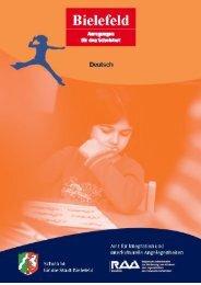 Anregungen für den Schulstart - Deutsch - RAA Bielefeld