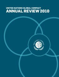 annUal Review 2010 - Global Compact Nordic Network