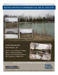 bank owned commercial real estate - Indiana Online Auction | Fort ...