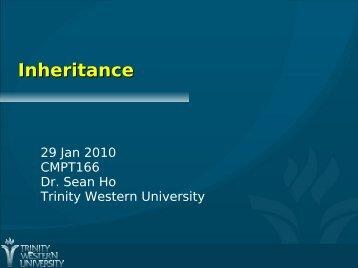 Inheritance, Overriding, Polymorphism