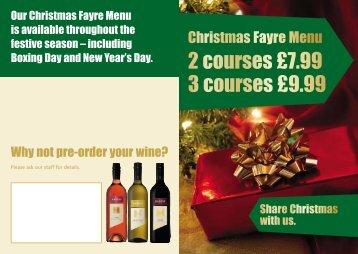 2 courses £7.99 3 courses £9.99 - Marston's Taverns