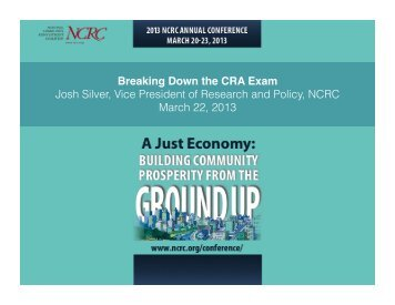 Josh Silver, Vice President of Research and Policy, NCRC