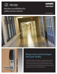 SARGENT PR100 Locks - Access Control Solutions from ASSA ...