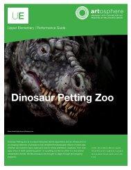 Dinosaur Petting Zoo - Walton Arts Center
