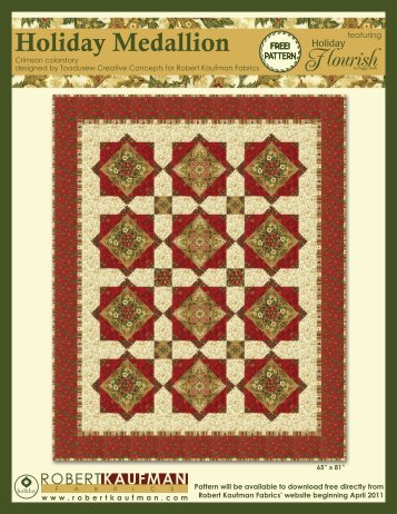 Download this pattern - Robert Kaufman