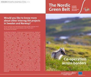 Pedal and enjoy! The Nordic Green Belt - Interreg Sverige Norge
