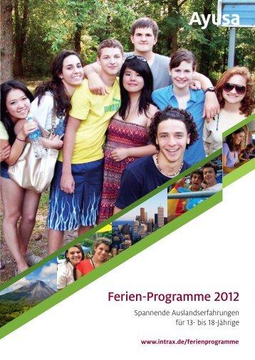 Ferien-Programme 2012 - Ayusa-Intrax