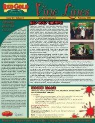 February 2011 Vine Lines Newsletter - Red Gold