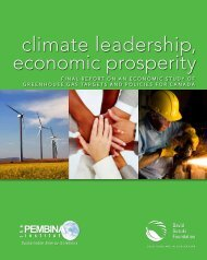 Climate Leadership, Economic Prosperity: Final - Pembina Institute