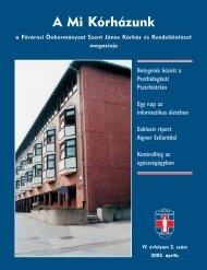 A Mi Kórházunk: 2002. április ( IV/2) - Szent János Kórház
