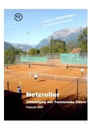 Ausgabe Februar 2007 (PDF-Datei) - Tennisclub Zizers