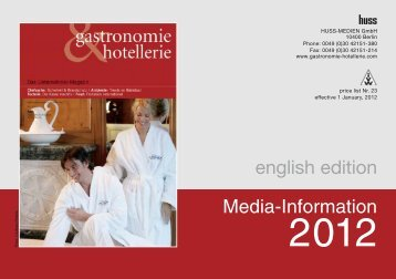 Media-Information english edition - Gastronomie & Hotellerie