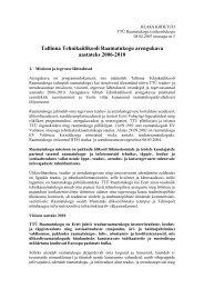 Arengukava 2006-2010 - Tallinna Tehnikaülikooli raamatukogu