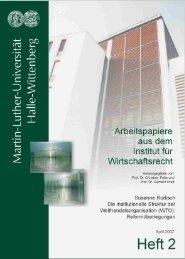 Institutionelle Struktur der Welthandelsorganisation - Institut für ...