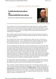 Vækkelseskristendom og Nådemiddelkristendom - Lyd-i-Natten.dk