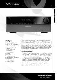 Harman Kardon AVR 355- Manual - Sound Group Holdings