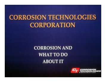 Corrosion and What We Do About It - NST Center