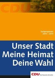 Sachprogramm 2009 – 2014 - CDU Stadtverband Bad Neuenahr ...