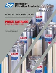 Price Catalog 20 Pages - Harmsco