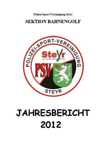 JAHRESBERICHT 2012 - PSV Steyr
