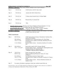 DERMATOLOGY CONFERENCE SCHEDULE May 2003 MONDAY ...
